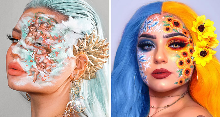 I Use Makeup To Create Art On My Face (107 Pics)