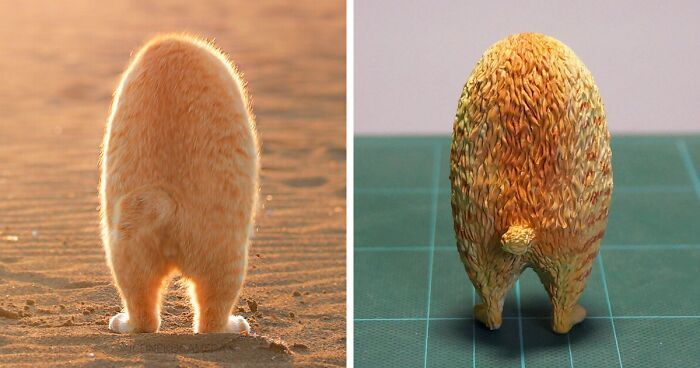 Japanese Artist Turns Hilarious Animal Moments Into Sculptures, And The Result Makes Them Even Funnier (67 New Pics)