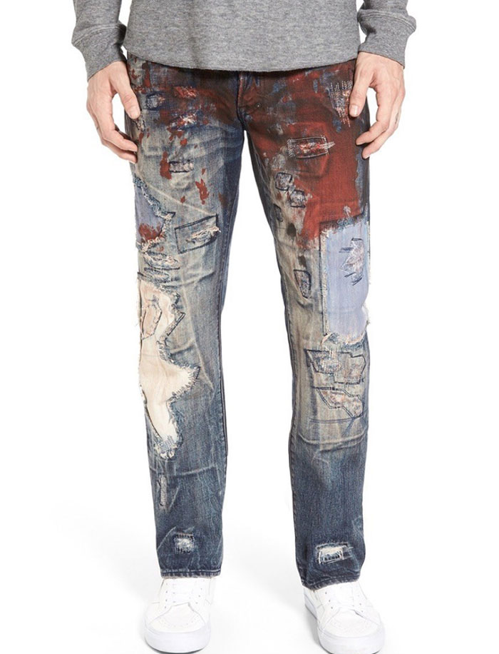 $425 Artsy Jeans Look More Like A Crime Scene