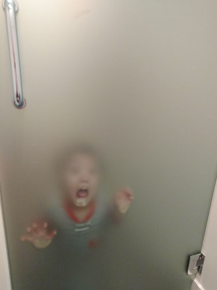 I Sat On The Toilet, Closed The Door, And My 2-Year-Old Decided I Wasn't Pooping Myself Fast Enough