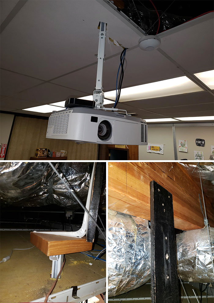 I Was Not Prepared For The Discovery Of This Redneck Projector Mount