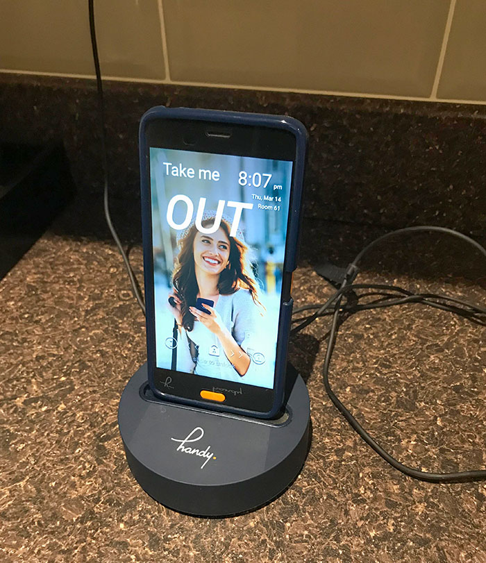 This Hotel I'm Staying At Provides A Phone That You Can Take Out With You. It Has Unlimited Mobile Data As Well As Free Calls