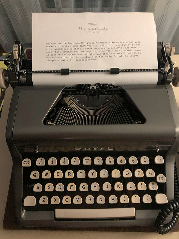 The Hotel I Stayed In Has A Typewriter For Writing Reviews
