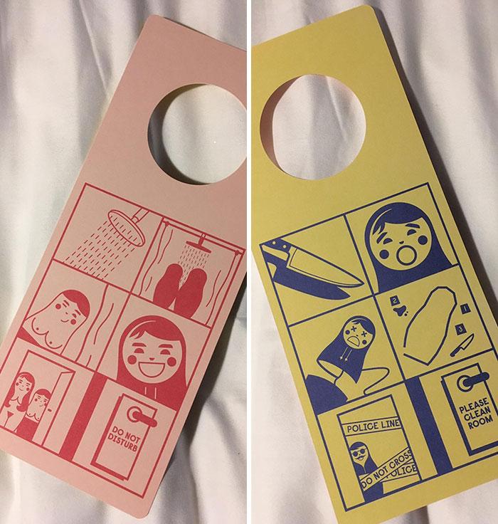 Hotel Door Signs: Do Not Disturb And Please Clean Room