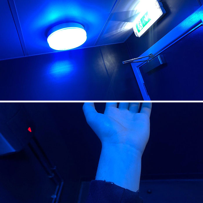 All Of The Toilet Lights In My Town Have Been Changed To Fluorescent Blue, In An Attempt To Prevent Heroin Users From Being Able To Find A Vein To Use