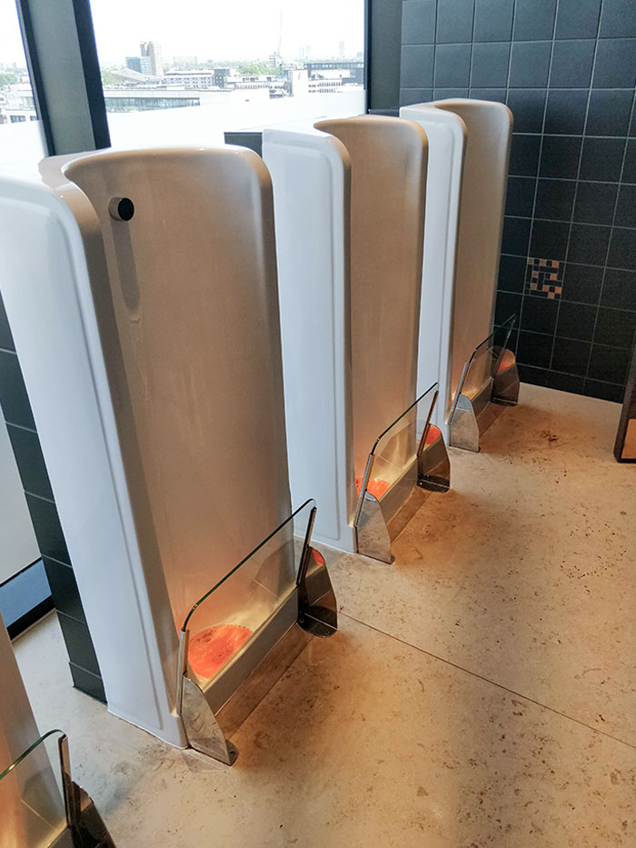 Urinals That Protect Your Shoes From The Splashback