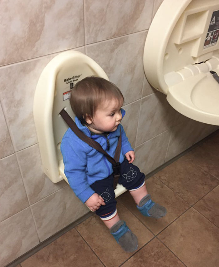 Whoever Invented This For When I'm Taking A Crap In A Public Restroom To Hold My Child In Place Is A Genius
