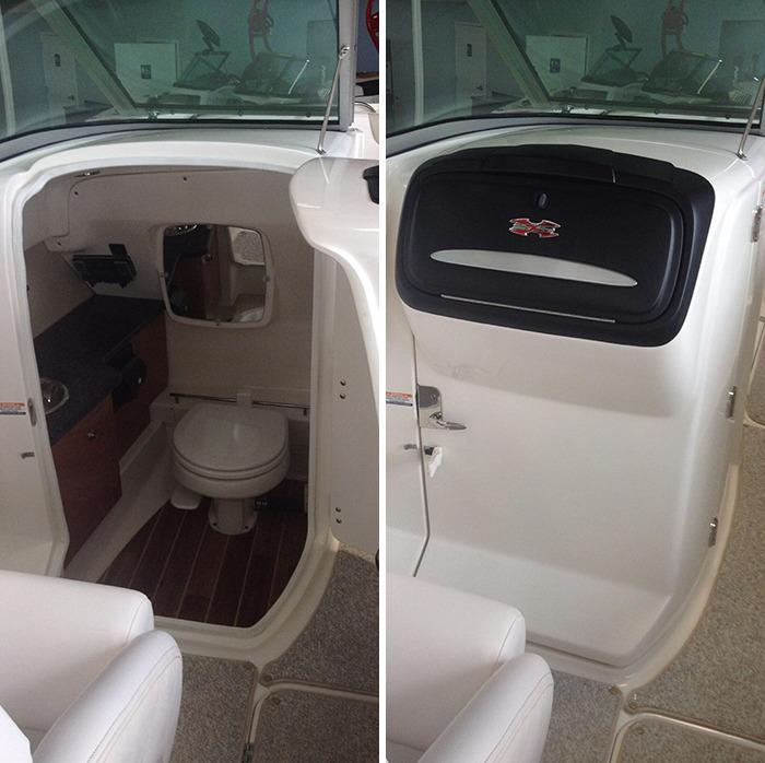 This Boat Has A Hidden Bathroom Behind The Glovebox