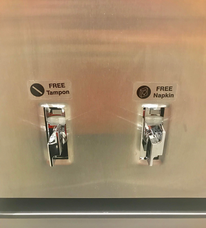 My Office Flipped All The Women's Restroom Vending Machines To Be Free