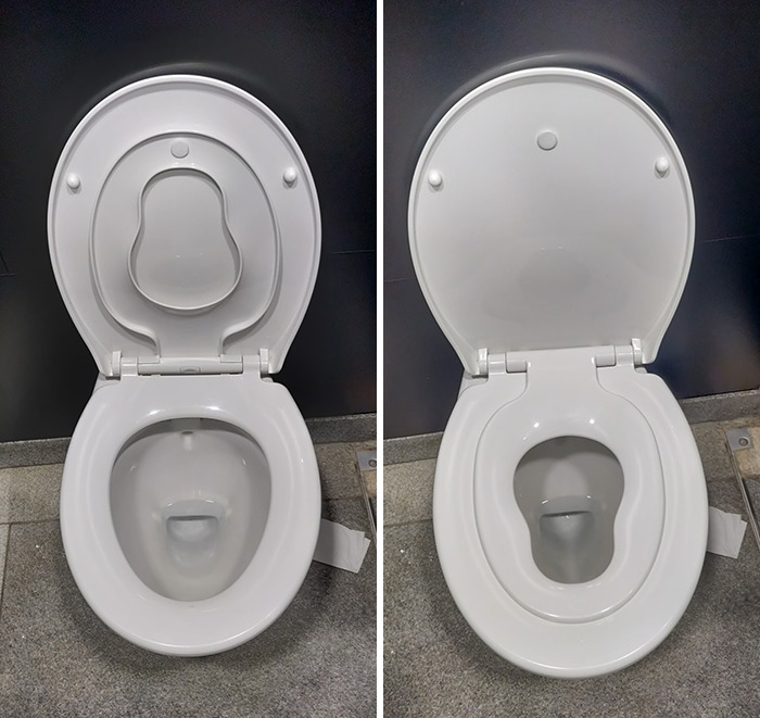 Public Toilet At Shopping Centre Has A Extra-Small Toilet Seat For Little Humans