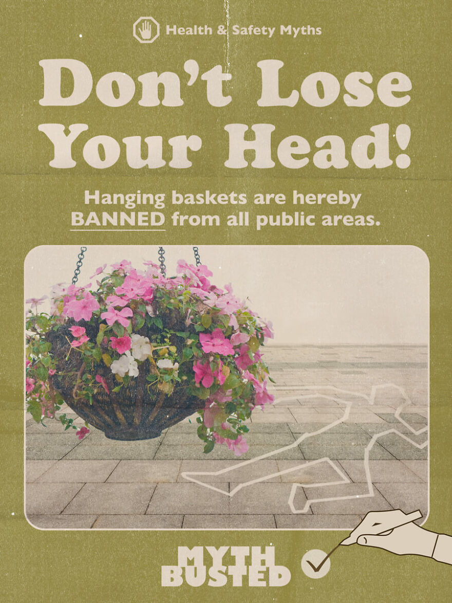In 2004, A Town Removed Hanging Baskets From Lamp Posts Over Safety Fears That The Old Lamp Posts Would Collapse. The Floral Baskets Have Since Been Reinstated