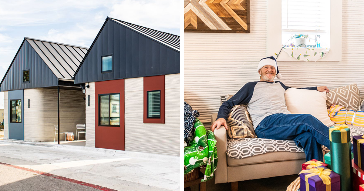 """""""I Hope I Stay Here Until My Last Dying Days"""": Homeless Man Becomes The First Person To Live In A 3D-Printed House"""