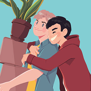 For Fifty Days, I Drew My Boyfriend And I Sharing Happy Moments Together (New Pics)