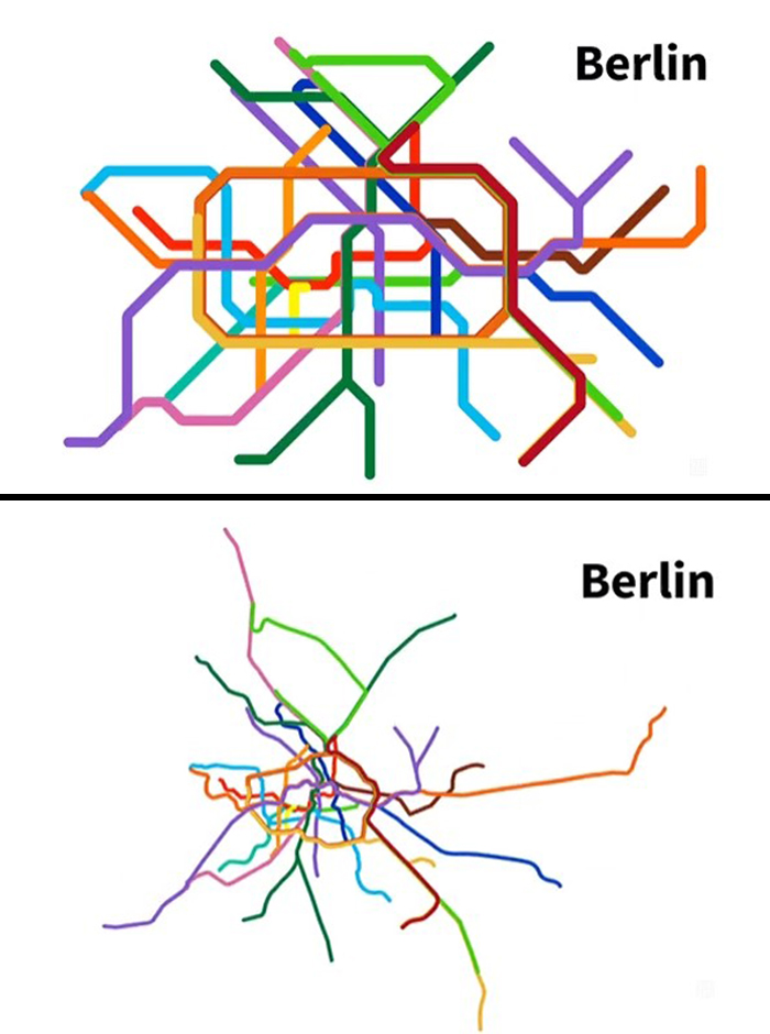 Berlin Subway Map Compared To Its Real Geography