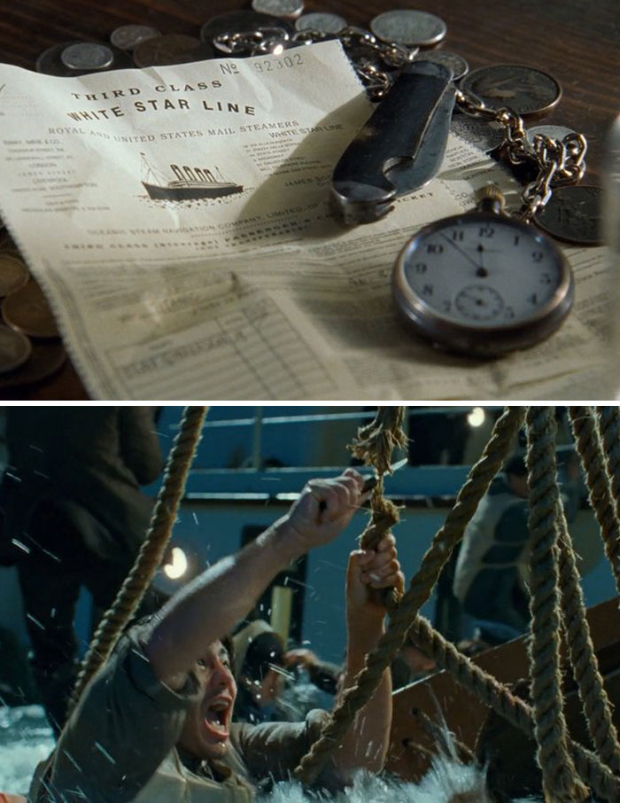 The Knife Fabrizio Uses To Cut The Ropes Of A Lifeboat Is The Same Knife He And Jack Won In A Card Game At The Beginning Of The Movie