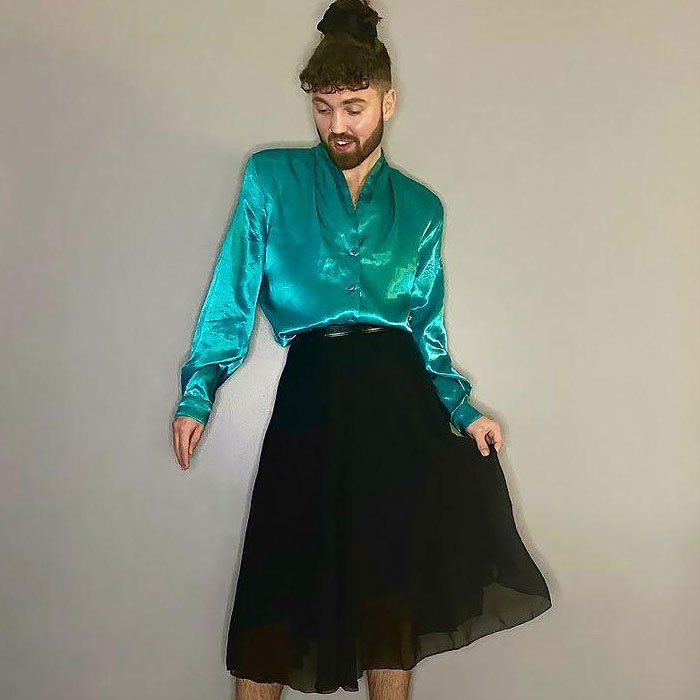 This Man Proves That Clothes Have No Gender By Wearing Skirts And Dresses