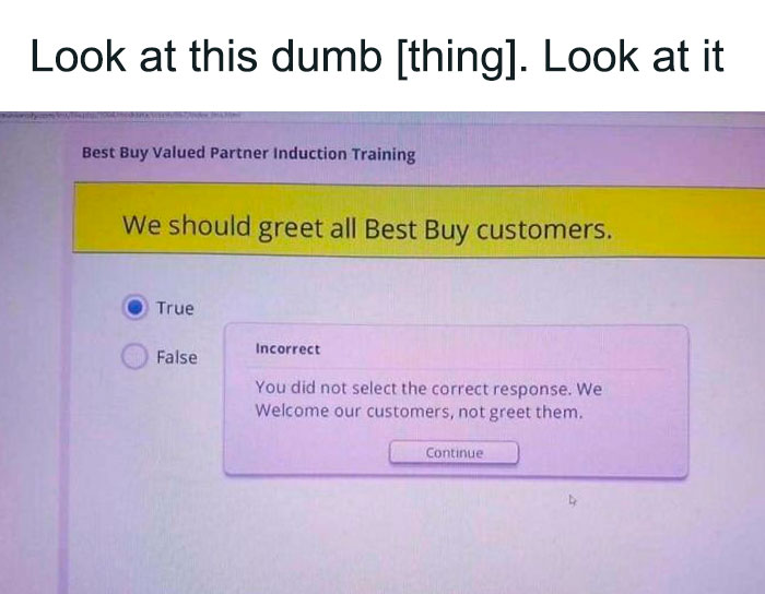 From Best Buy's Training