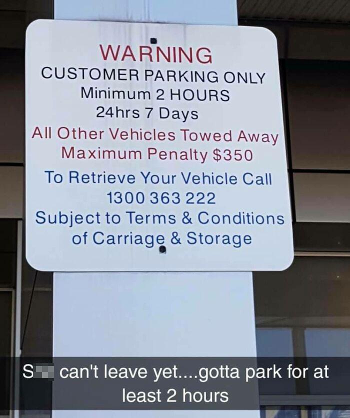 2 Hour Minimum Parking
