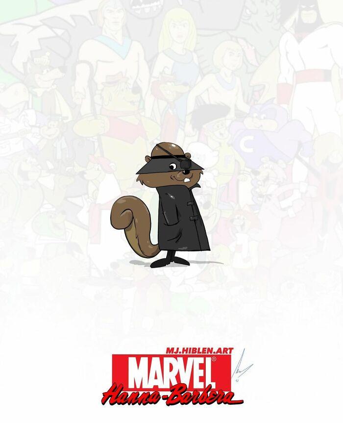 UK Illustrator Made These Mashups Of Marvel And Hanna-Barbera Characters (17 Pics)