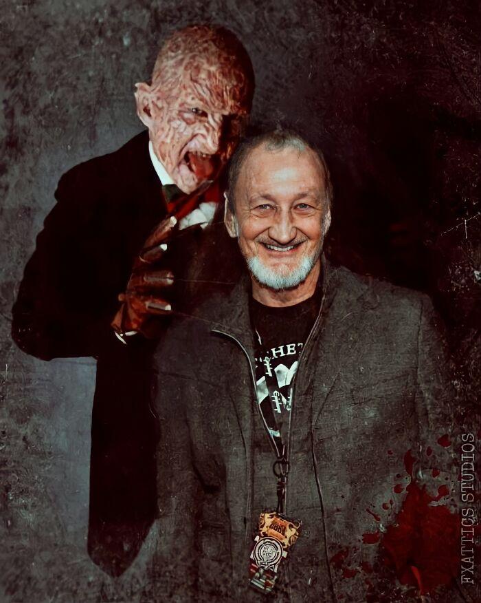 """Freddy Krueger y Robert Englund, de """"Pesadilla en Elm street"""""""