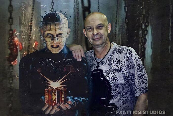 """Pinhead y Doug Bradley de """"Hellraiser"""""""