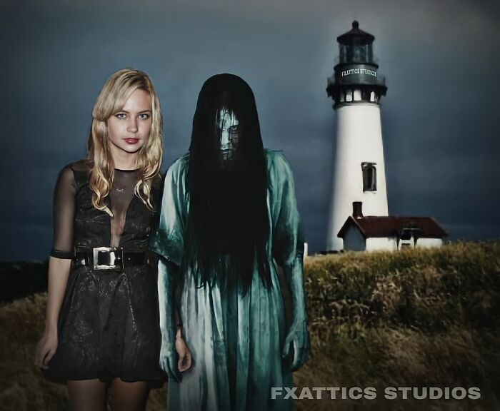 "Samara y Daveigh Chase de ""The Ring"""