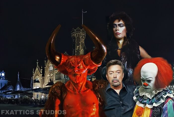 "El señor de la oscuridad, Pennywise y Frank N. Furter, por Tim Curry en ""Legend,"" ""The Rocky Horror Picture Show"" & ""It"""