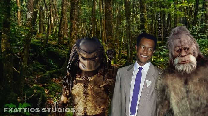 "Predator y Big Foot, por Kevin Peter Hall en ""Predator"" y ""Harry y los Hendersons"""
