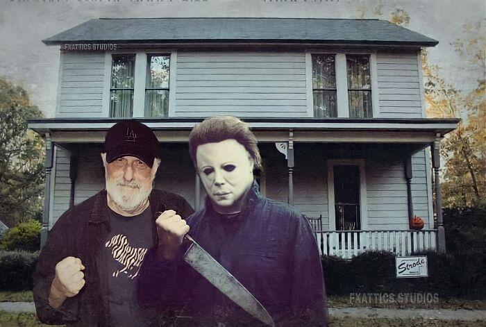 "Michael Myers y Tony Moran de ""Halloween"""