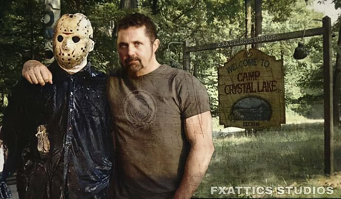 """Jason Voorhees And Richard Brooker From """"Friday The 13th"""""""