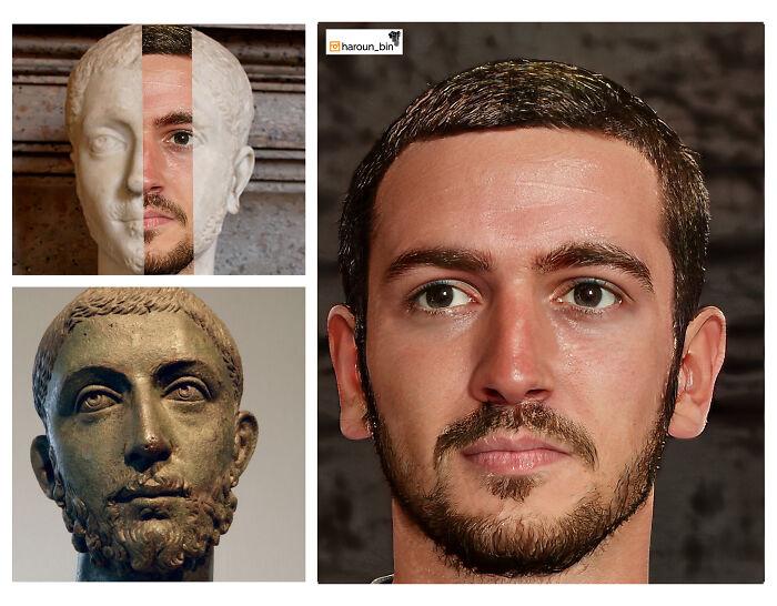 Очередная реконструкция внешности римских императоров.