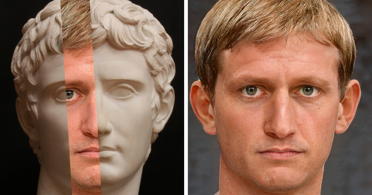 Artist Shows How These 65 Roman Emperors Looked In Real Life By Using Facial Reconstruction, Ai, And Photoshop