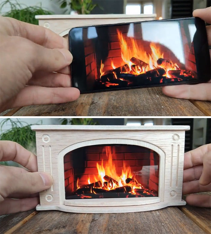 I Made A Phone Stand To Turn Your Smartphone In A Cozy Fireplace