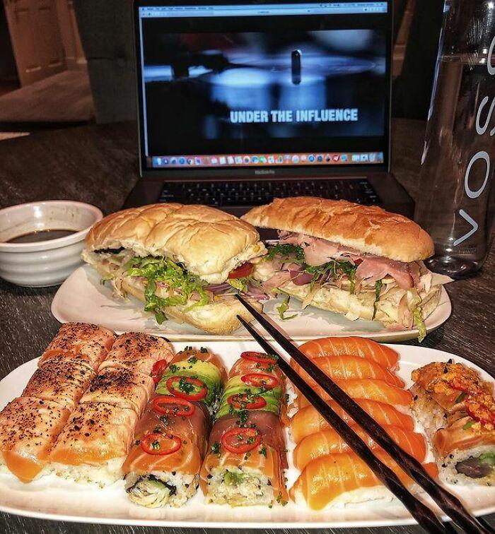 Sushi On Cheat Days Are Called The Sunday Sushi Train