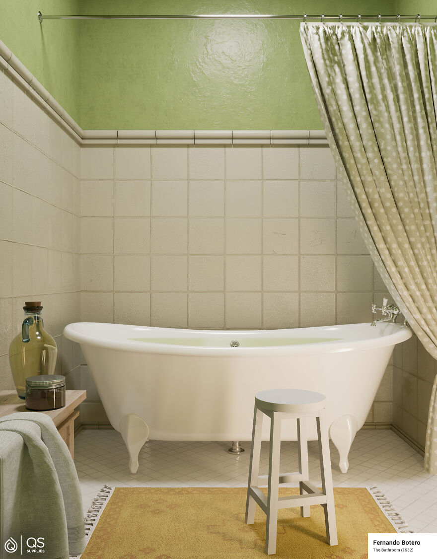Here's How 5 Bathrooms From Famous Paintings Would Look In Real Life By Qssupplies