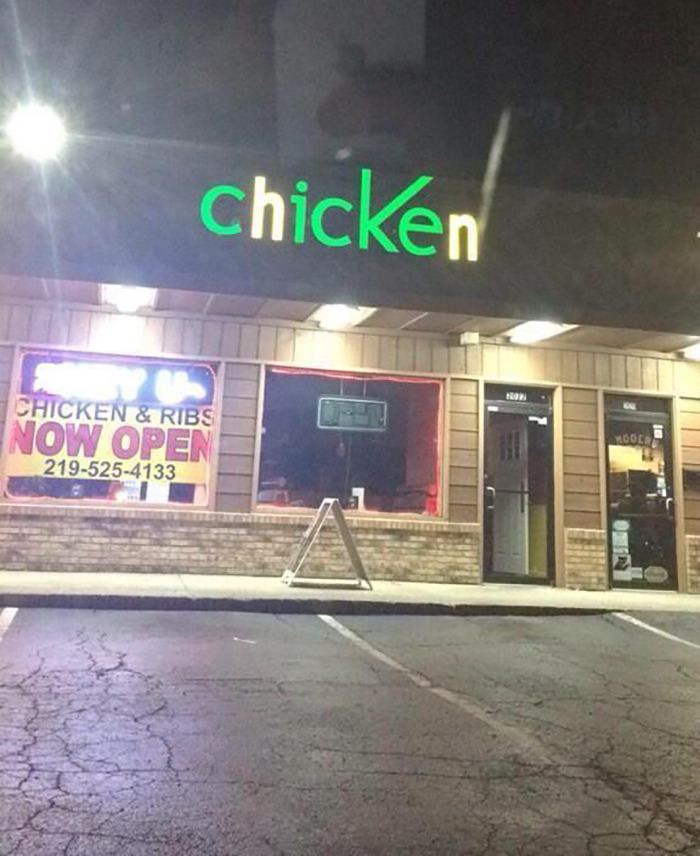 A Former Cricket Wireless Is Now A Chicken Restaurant