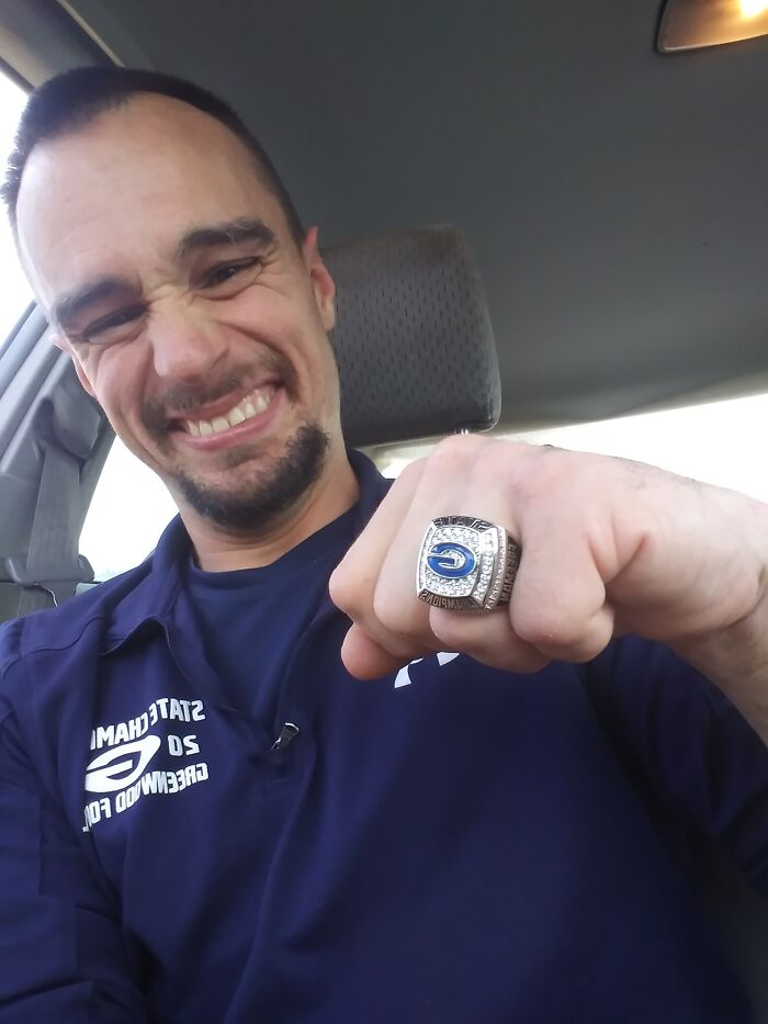 Jamie Couldn't Play Sports Because He Has Cerebral Palsy, But The Team That He Works For As A Janitor Awarded Him A Ring