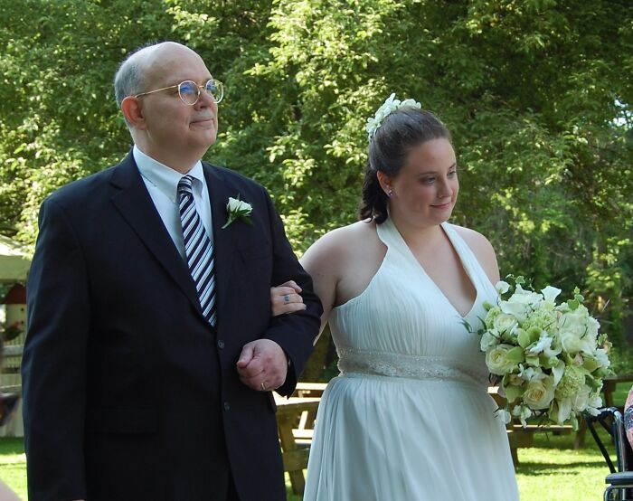 Bride Being Given Away By Her Father