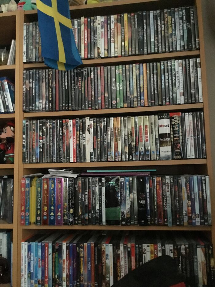 Well......uh.... Where Do I Begin? I Begin With My Dvd:s. There Is Another Row Of Dvds Back