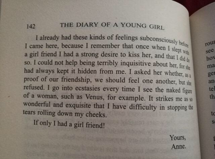 Just A Friendly Reminder, The History Books Accidentaly Forgot A Few Pages From Anne's Diary