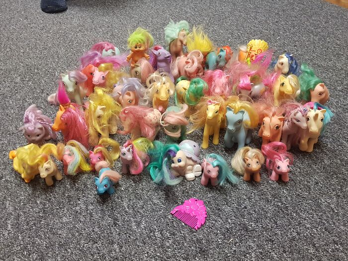These... From My Childhood. Partner Sabotaged The Herd With Random Troll Dolls...