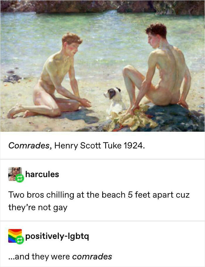 """Two """"Comrades"""" Naked On The Beach"""