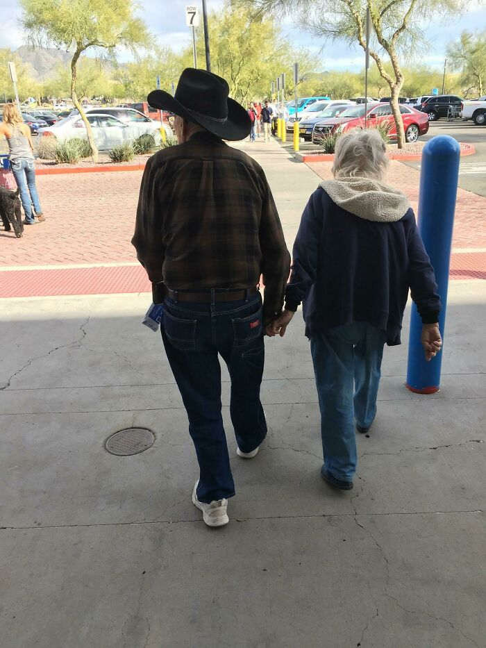 Went To Walmart And As I Exited, This Older Couple Was Holding Hands