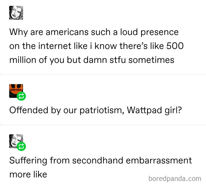"""""""Offended By Our Patriotism, Wattpad Girl?"""""""