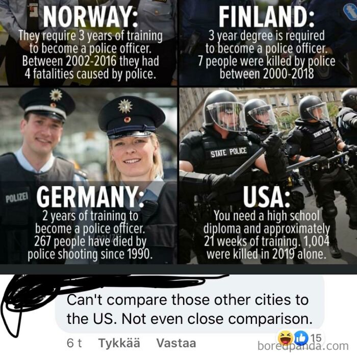 Can't Compare Those Other Cities To The Us