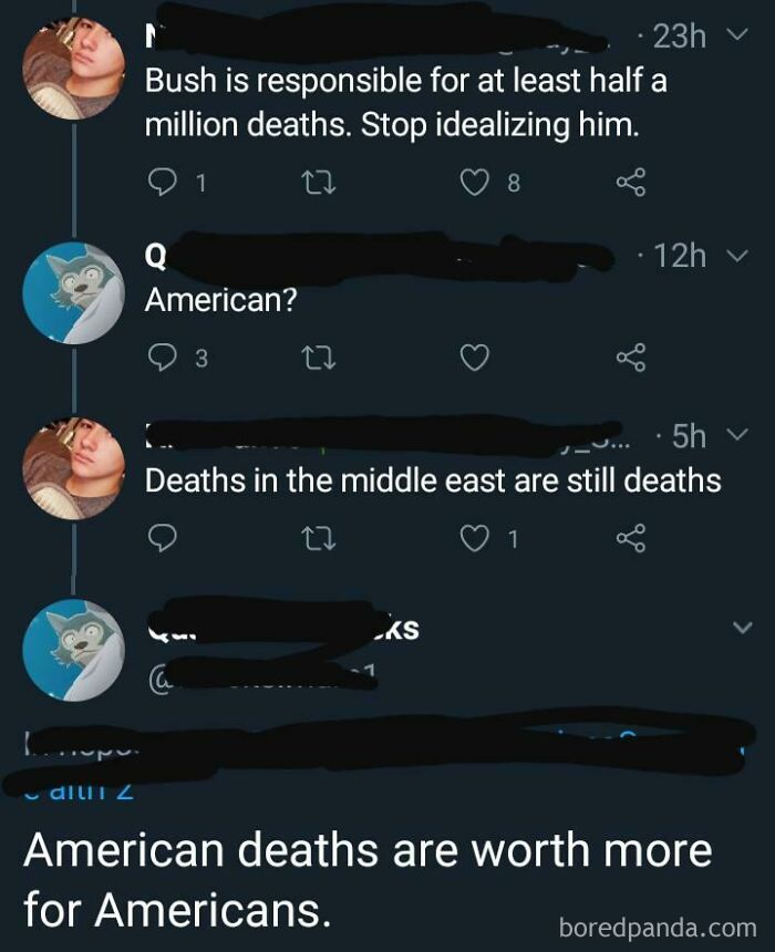 """""""American Deaths Are Worth More"""""""