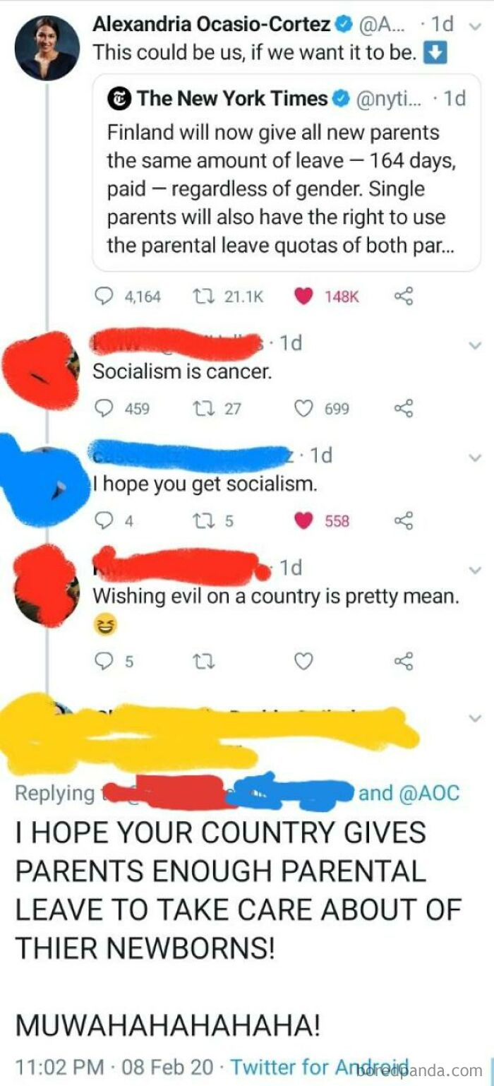 """Wishing """"Evil"""" On A Country Is Pretty Mean"""