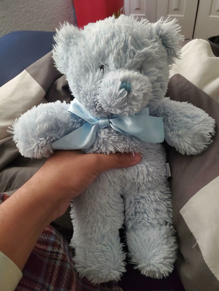 When I Was 13 My Mother Purposely Burnt A Blue Teddy Bear I Had To Teach Me A Lesson. For The Past 10 Years It Haunted Me
