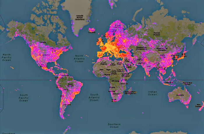 Map Of Most Photographed Places In The World