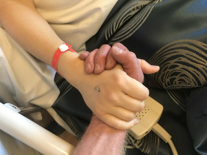 Today, I Got To Hold The Hand Of My Wife As She Recovered From Anesthesia. This Simple Moment Made Me Smile